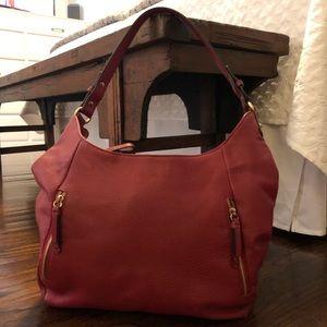 Ora Delphine Red Leather Bag
